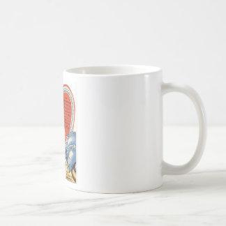 Retro Valentine's Day Classic White Coffee Mug