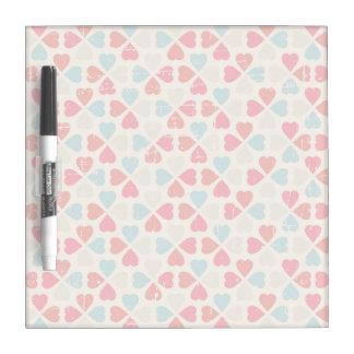 Retro Valentine's Day Pattern Dry-Erase Boards