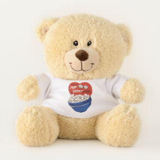 Retro Valentines Day, Popcorn Pop a Corny Question Teddy Bear