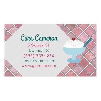 Retro Vanilla Ice Cream Custom Business Cards