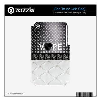 Retro Vape Zebra Elegent iPod Touch 4G Skin
