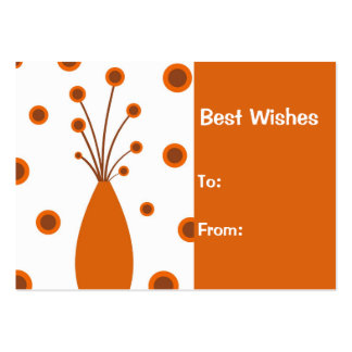Retro vase Best Wishes : Card Business Card Template