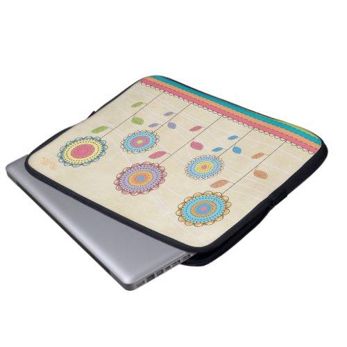 Retro Vector Rainbow Flower Garden Abstract electronicsbag