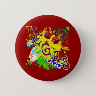 RETRO VEGAS PINBACK BUTTON