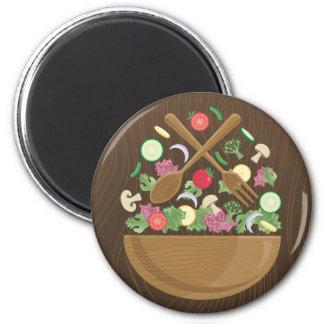 Retro Vegetable Bowl Fridge Magnet