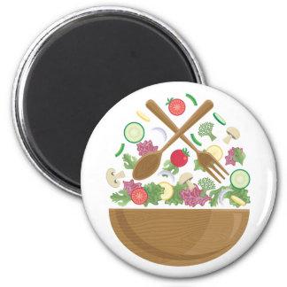 Retro Vegetable Bowl Magnet