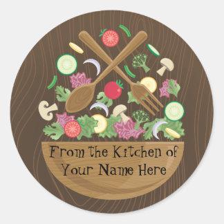 Retro Vegetable Bowl Sticker