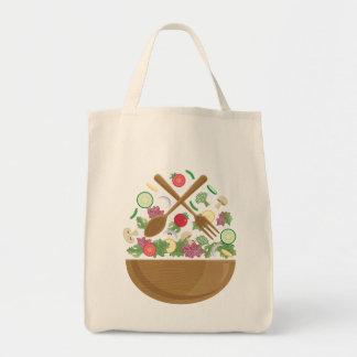 Retro Vegetable Bowl Tote Bag