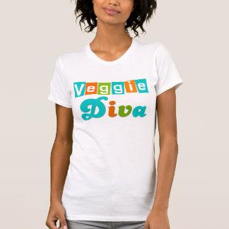 Retro Veggie Diva Tee Shirts