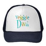 Retro Veggie Diva Trucker Hats