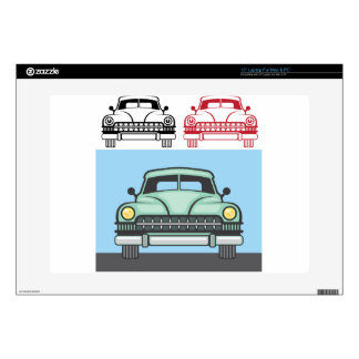 """Retro Vehicle Front Decals For 15"""" Laptops"""