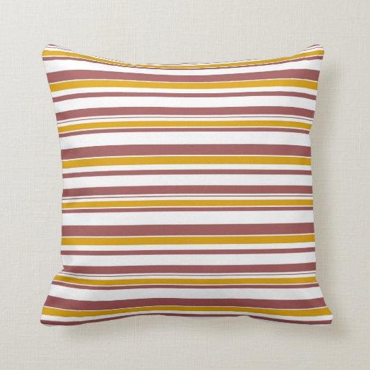 Retro Vertical Stripes Seamless Abstract Throw Pillow
