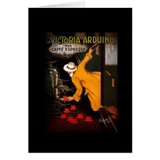 Retro Victoria Arduino Coffee Ad Card