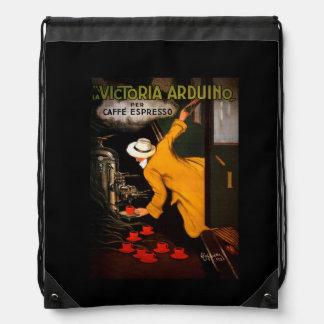 Retro Victoria Arduino Coffee Ad Drawstring Backpack