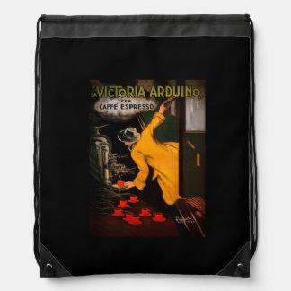 Retro Victoria Arduino Coffee Ad Drawstring Bag