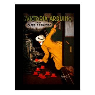 Retro Victoria Arduino Coffee Ad Postcard