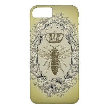 birthday retro Victorian Bee Queen crown Fashion iPhone 7 c iPhone 7 Case
