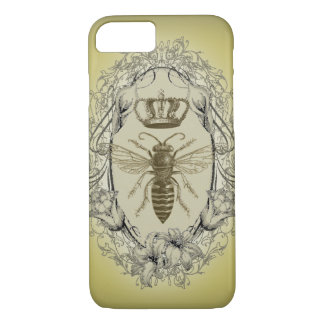 retro Victorian Bee Queen crown Fashion iPhone 7 c iPhone 8/7 Case
