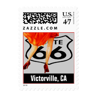 Retro Victorville CA Travel Fun Route 66 Vintage Postage