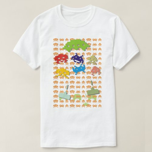 Retro Space Invaders Adult T-shirt - S to 5XL