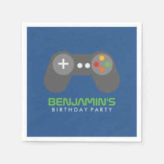 Retro Video Game Controller Birthday Napkin