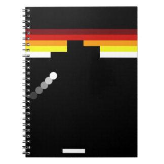 Retro video game spiral notebooks