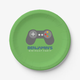 Retro Video Games Birthday Party Paper Plate