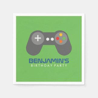 Retro Video Games Controller Birthday Paper Napkin