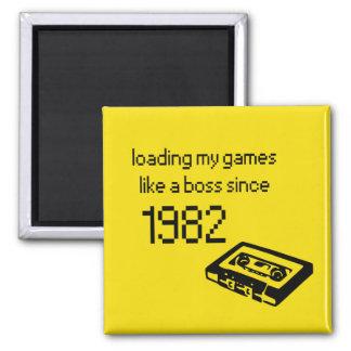 Retro videogame magnet