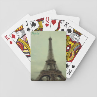 retro view of the Eiffel Tower in Paris, France Poker Deck
