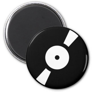 retro vinly record 2 inch round magnet