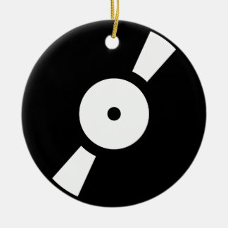retro vinly record ceramic ornament