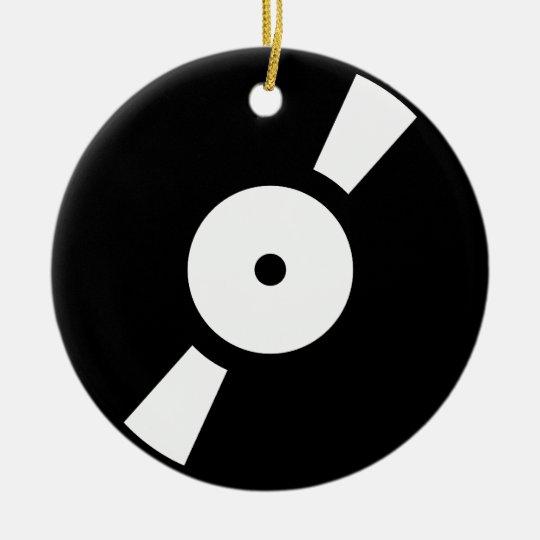 retro vinly record ceramic ornament
