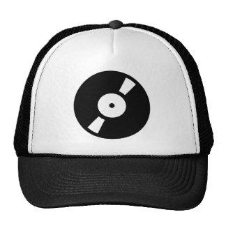 retro vinly record hats