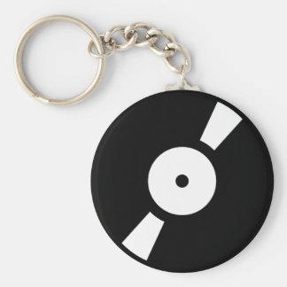 retro vinly record keychain