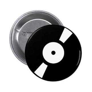retro vinly record pinback button