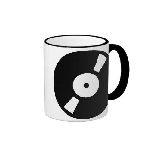 retro vinly record, retro vinly record ringer mug