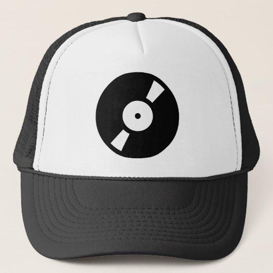 retro vinly record trucker hat