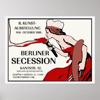 Retro vintage 1900 Berlin Art Expo Poster