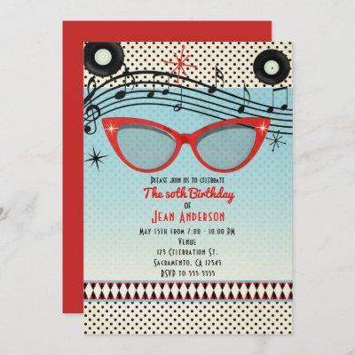 Retro Vintage 1950's Fifties ANY EVENT Invitations