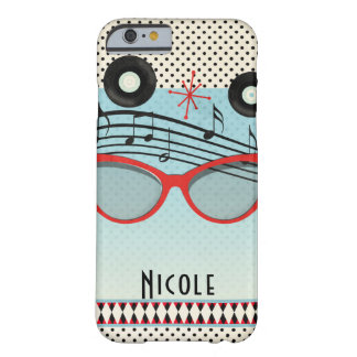 Retro Vintage 1950's Fifties Red Cat Eye Glasses Barely There iPhone 6 Case