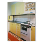 Retro Vintage 1950s Kitchen Blank Greeting Card