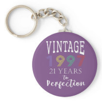 Retro Vintage 1997 years to perfection 21st Keychain