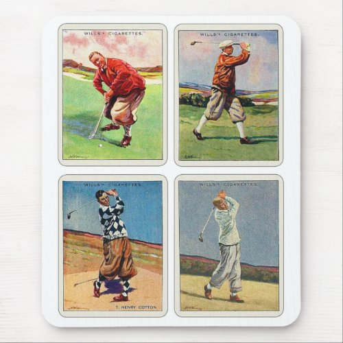 Retro Vintage 1920s Golfing Mouse Pad