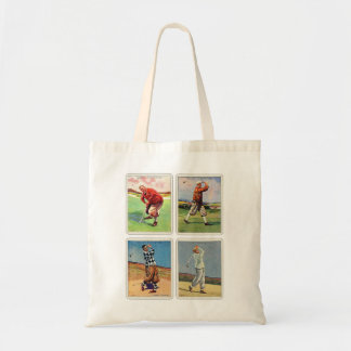 Retro Vintage 20s Golfing Cigarette Will's Cards Tote Bag