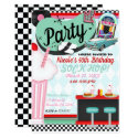 Retro Vintage 50's Fifties Diner Birthday Party Invitation