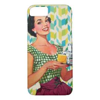 Retro Vintage 50's Housewife Holding Food iPhone 7 Case