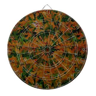 Retro Vintage Abstract Tangerine Sage Dart Board