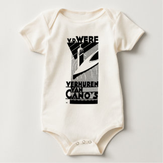 retro vintage advertisement - Werf  canoe rentals Baby Bodysuit
