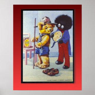 Retro vintage advertising, Golden Shred Marmalade Poster